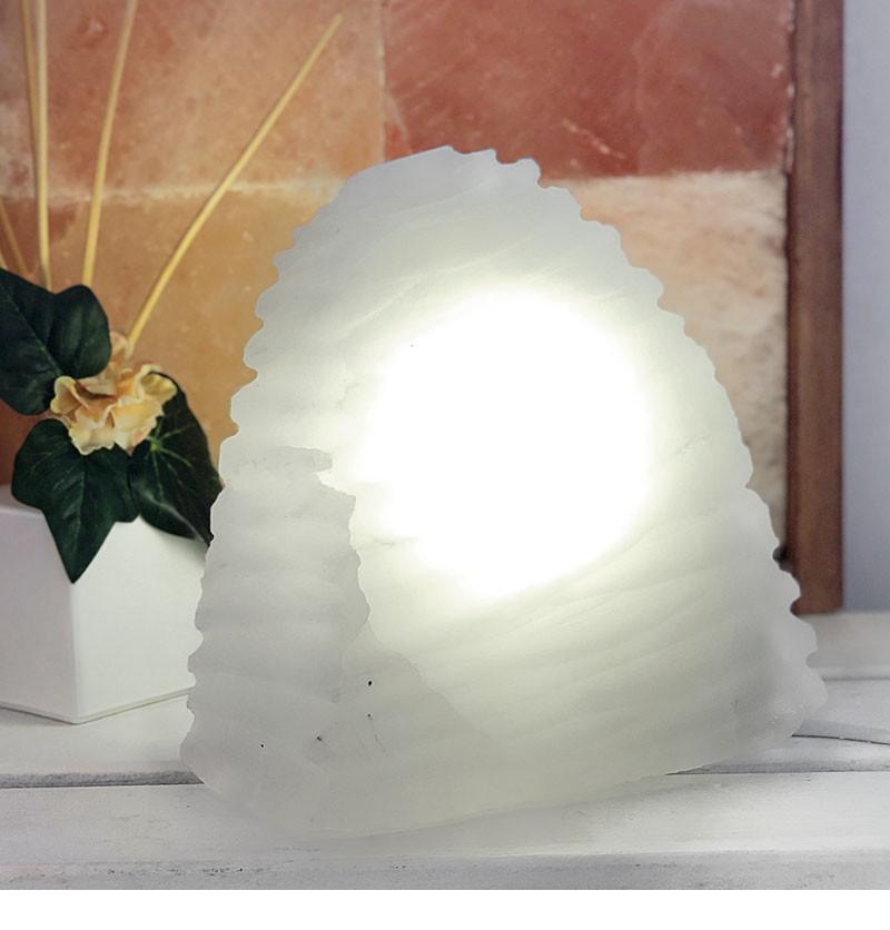 20cm Selenite Wave Lamp