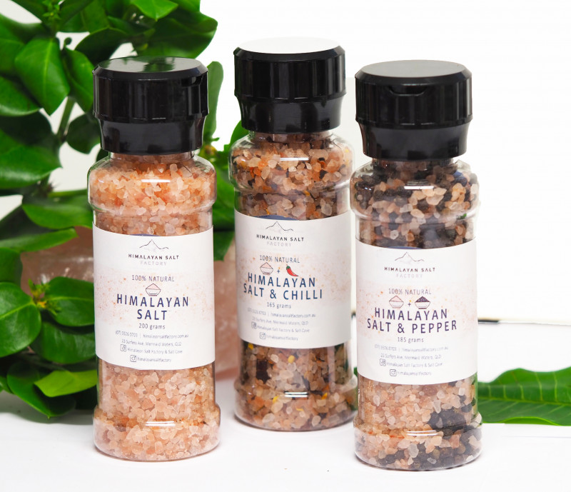3 x Pack Himalayan Salt, Chilli and Pepper Pack (Plastic Grinders)