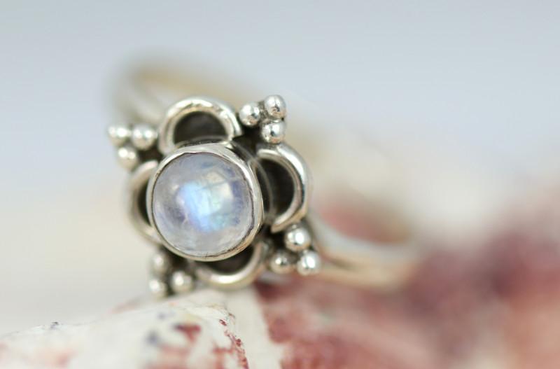 Natural Moonstone Ring size    L -   BU  2604