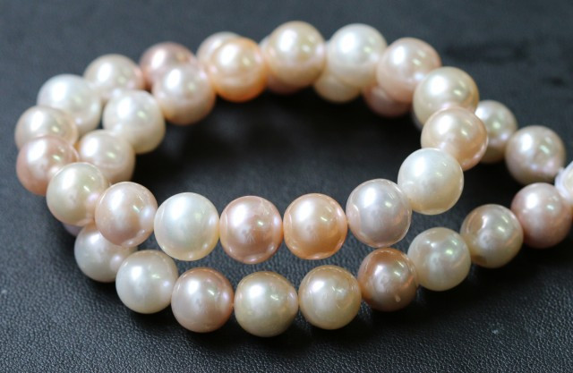 11mm Palette of Colours natural strand Pearls PPP194