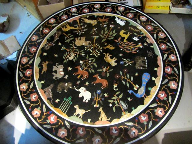 Pietra Dura Inlay Marble Table ,Ancient wild Animals