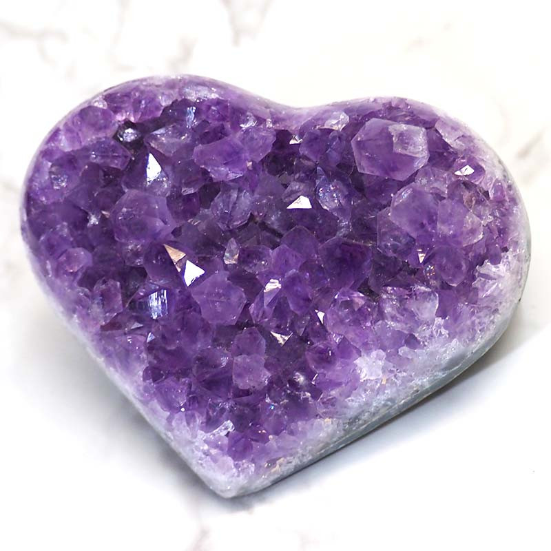 Natural Amethyst Druze Heart DS51