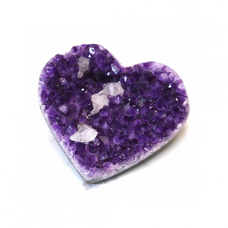 Natural Amethyst Druze Heart DS52