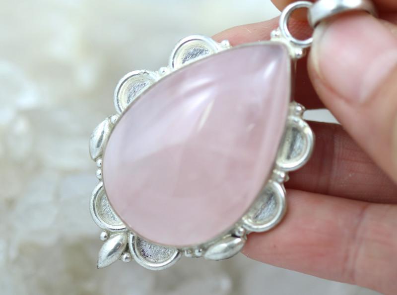 Lovers rose quartz pendant  Bu 2625
