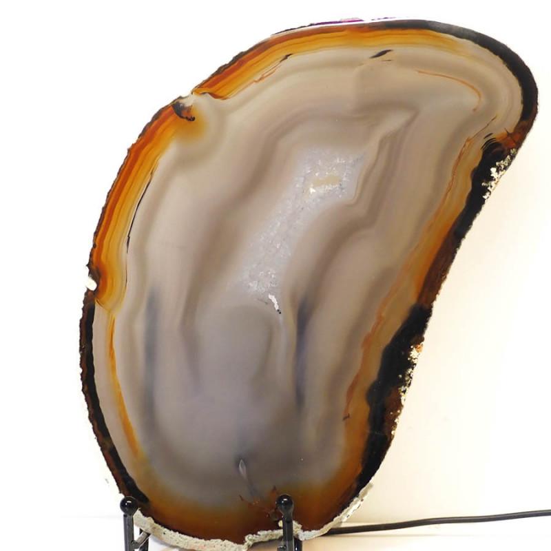 0.681kg Sliced Brazilian Crystal Agate Lamp J44