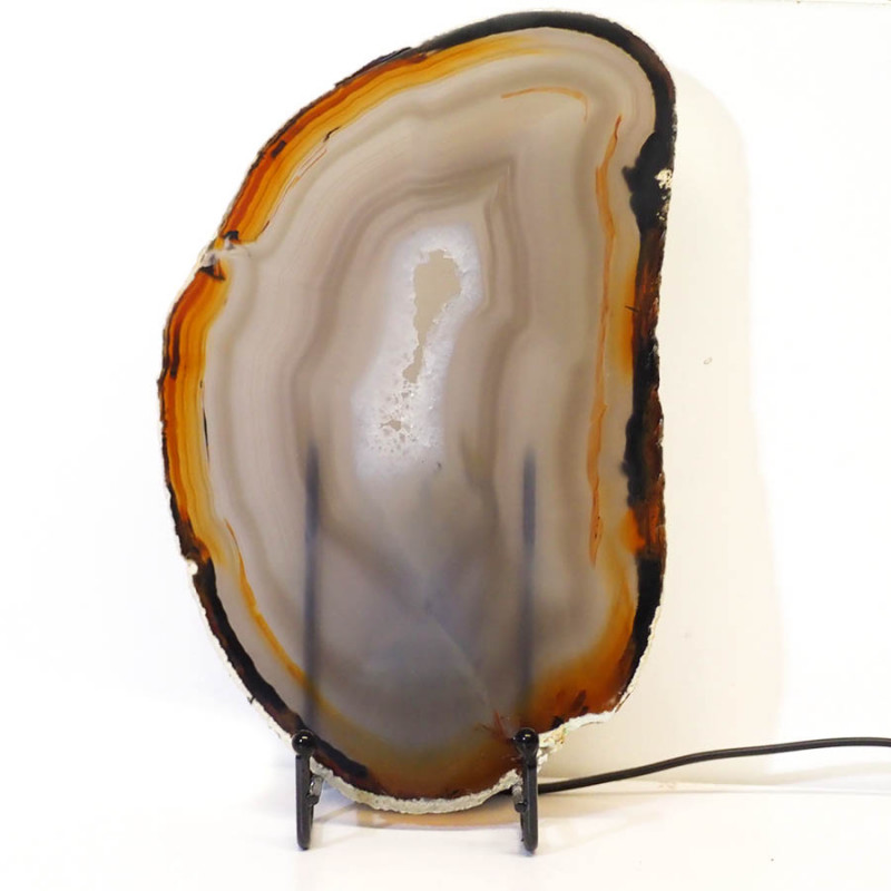 0.52kg Sliced Brazilian Crystal Agate Lamp J45