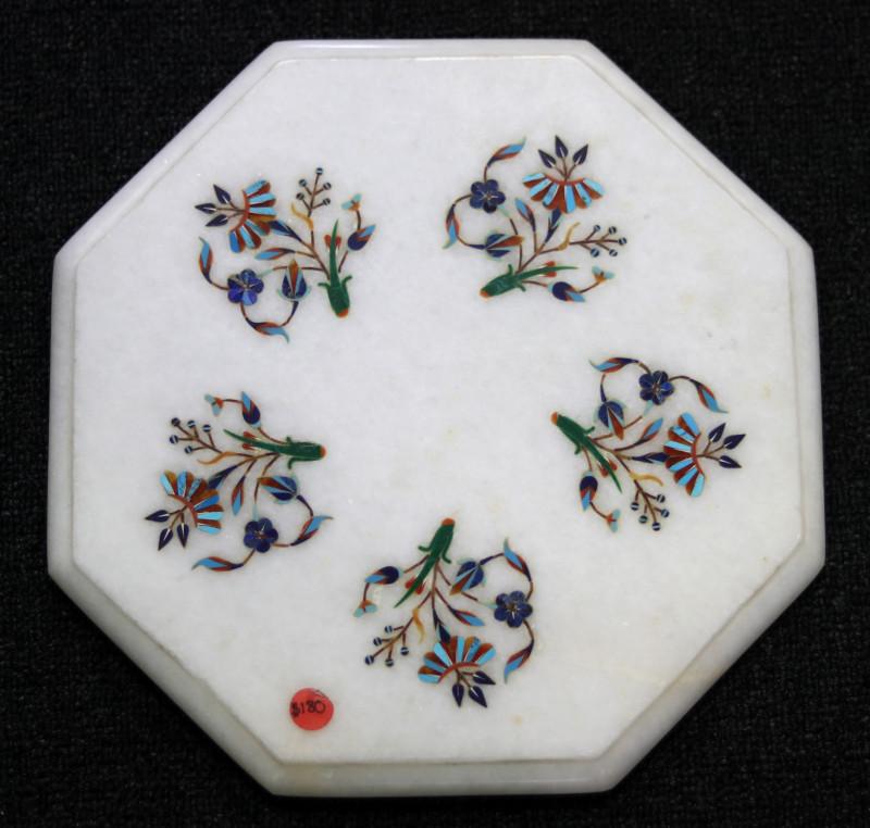 Taj Mahal  White marble gemstone Tops MIG 003