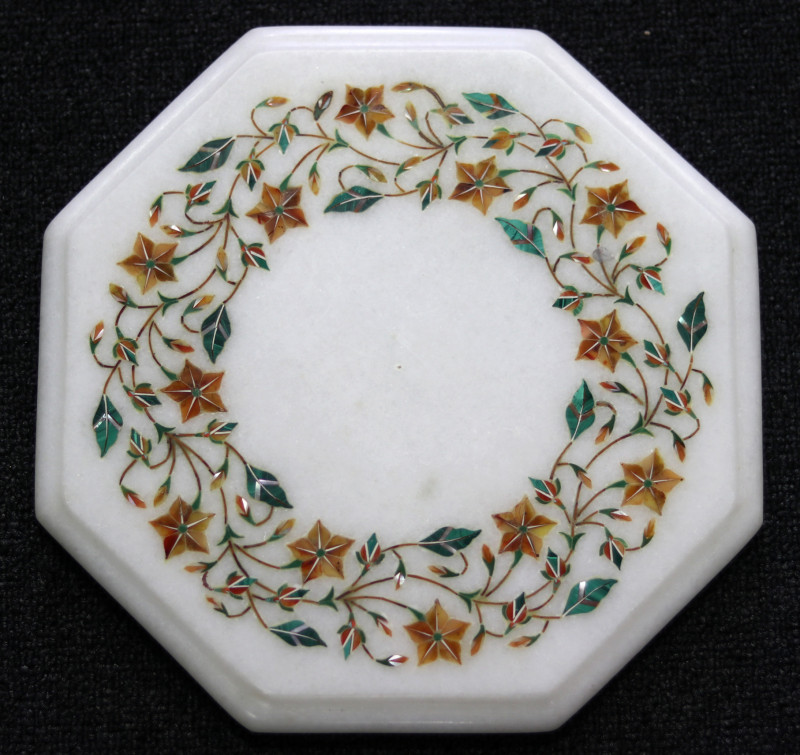 Taj Mahal  White marble gemstone Tops MIG 012