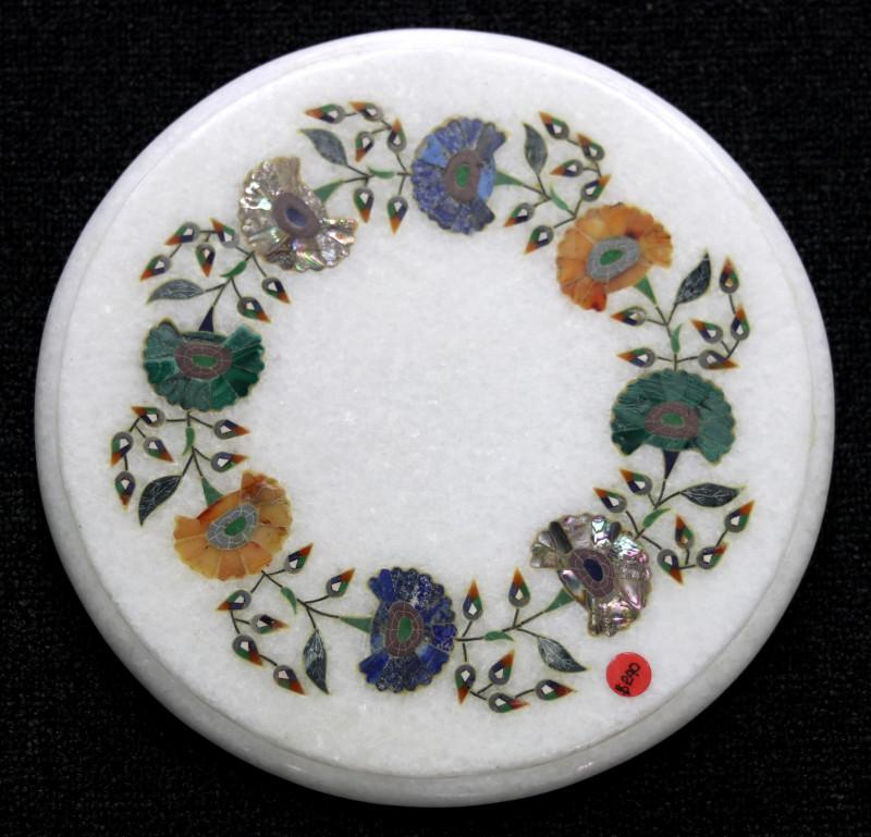 Taj Mahal  White marble gemstone Tops MIG 014