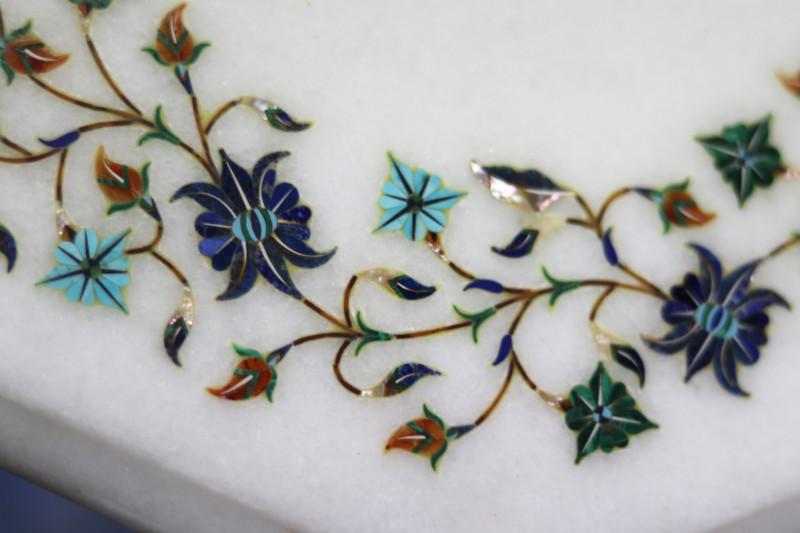 Taj Mahal  White marble gemstone Tops MIG 021