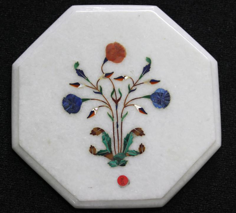 Taj Mahal  White marble gemstone Tops MIG 023