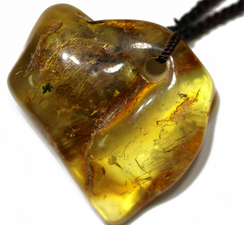 87.50 Cts Natural  Baltic Amber Necklace AM 1943