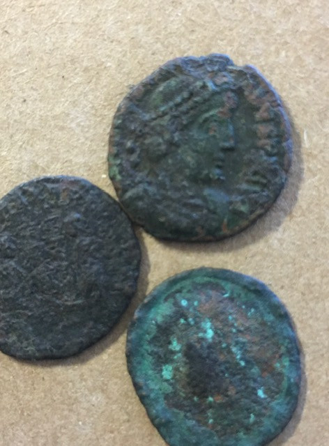 Find your Own treasures   Three ancient coins Uncleaned CP 385