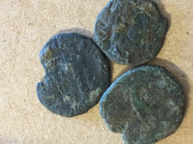 Find your Own treasures   Three ancient coins Uncleaned CP 388