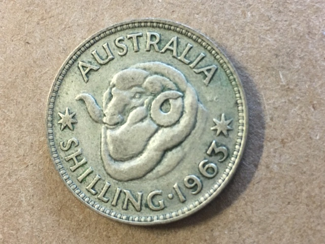 1963 one shilling  Silver Coin CP 413