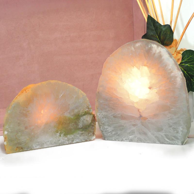 1.7kg Agate Crystal Lamp With Tea Light  J58