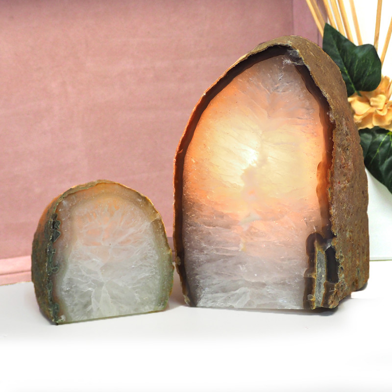 2.97kg Agate Crystal Lamp With Tea Light  J60