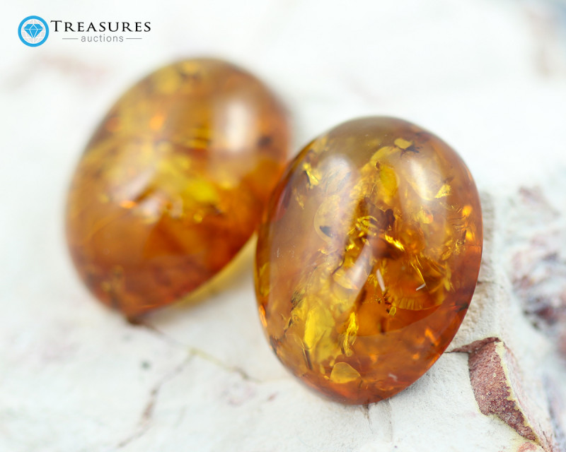 27Cts Gold Yellow Amber - AM 1995
