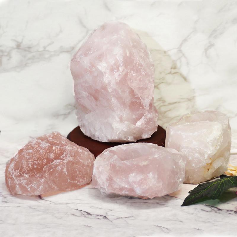 Rose Quartz Crystal Lamp Set 4 Pieces S356
