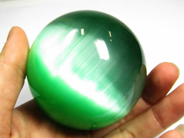 1700 CTS  CCATES EYE BALL EMERALD GREEN (SYNTHETIC) PG0608
