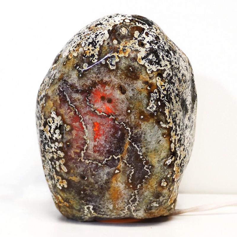 3.6kg Natural Brazilian River Agate Crystal Lamp S376