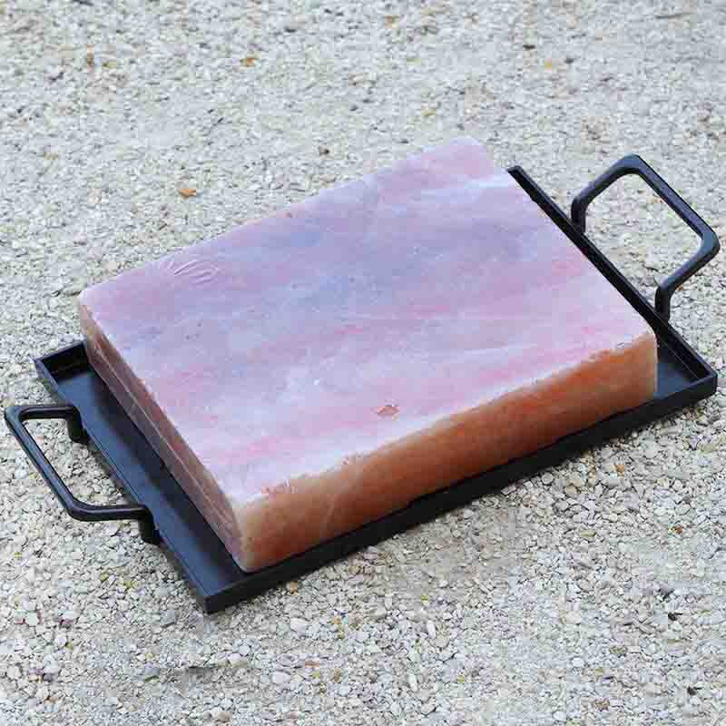 Large Himalayan Salt Cooking Block with Tray