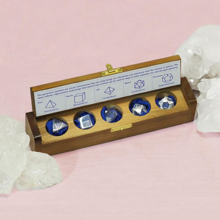 Gemstone Geometric Clear Quartz Box