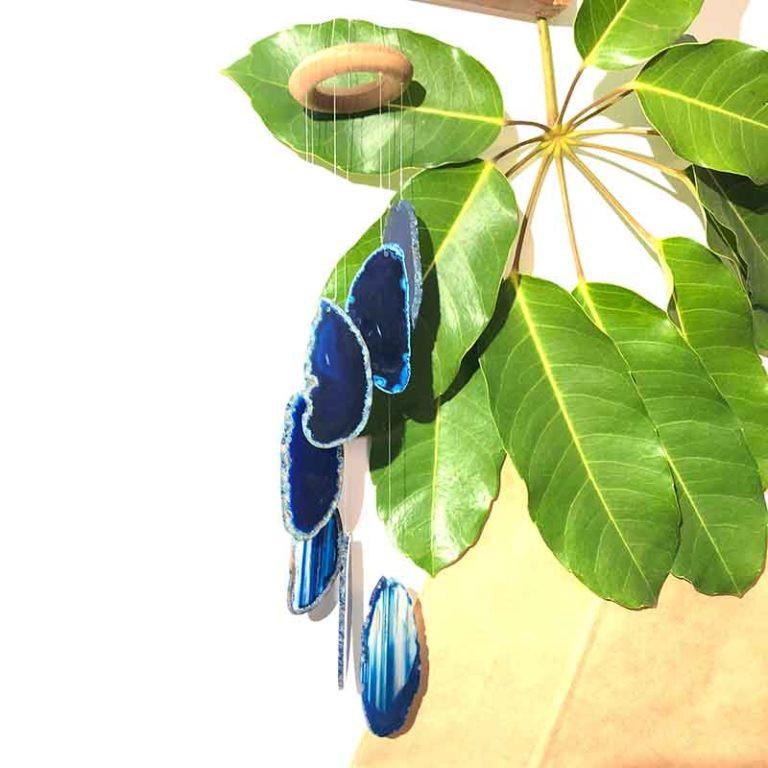 Wind Chime Brazil Agate Blue Slices – SM