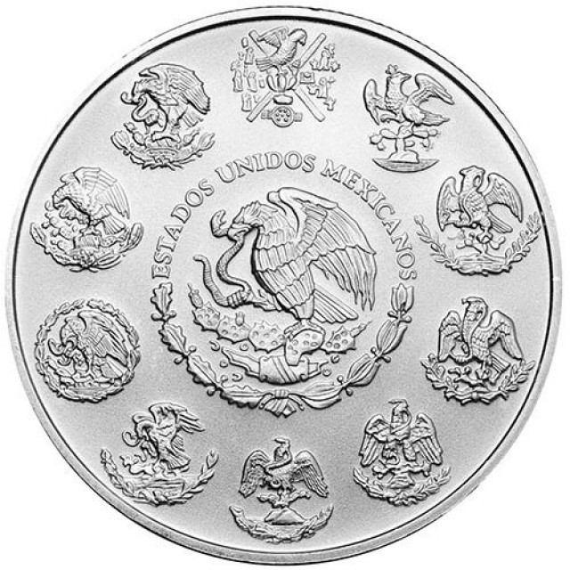 2016 UNC MEXICAN LIBERATED ONE OUNCE SILVER BULLION COIN
