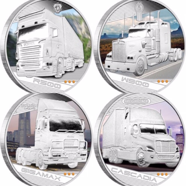 Kings of the Road Four 1oz Silver Coin Set  2010