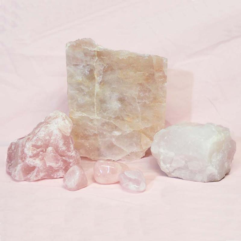 Divine Rose Quartz Crystal Set J288