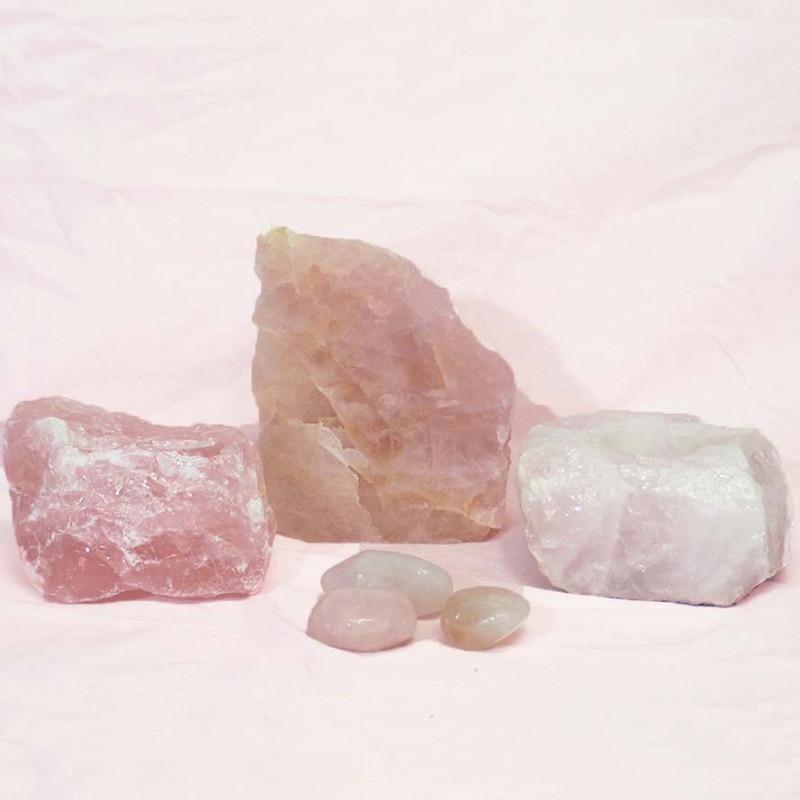 Divine Rose Quartz Crystal Set J291
