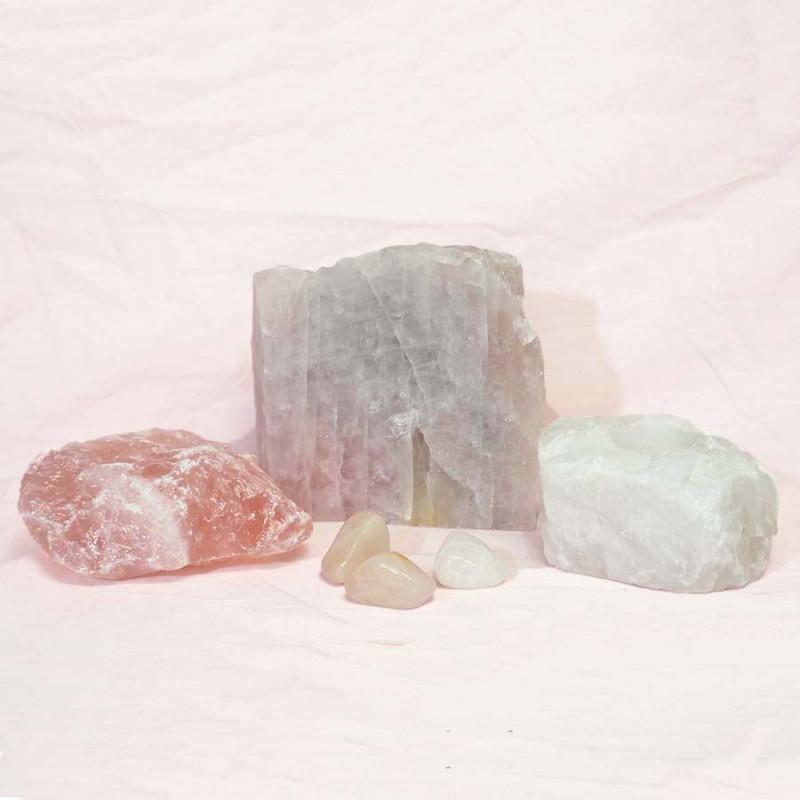 Divine Rose Quartz Crystal Set J293