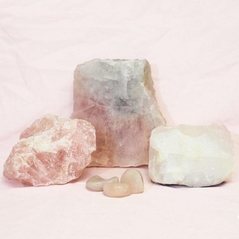 Divine Rose Quartz Crystal Set J307