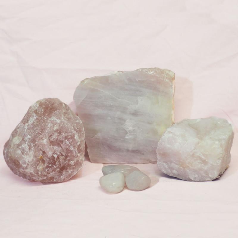 Divine Rose Quartz Crystal Set J308