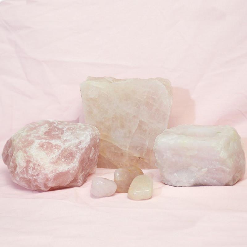 Divine Rose Quartz Crystal Set J310