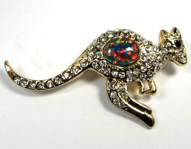 CUTE FASHION OPAL KANGAROO STYLISH OPAL BROOCH CSS 231