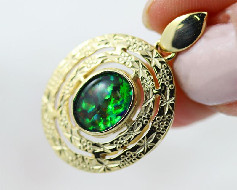 Man made Fire Opal  Pendant GTJA 1054