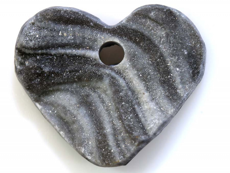 30 -CTS DRUSY PENDENTS DRILLED HEART SHAPE  RJA-579