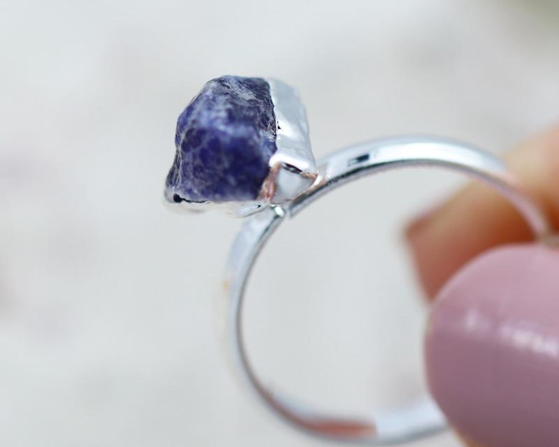 Throat Chakra Sodalite Ring Size L - CH20