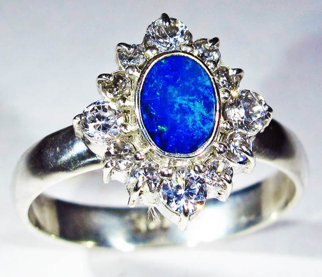 RING SIZE R.5 OPAL DOUBLET FACTORY DIRECT [SOJ2711]