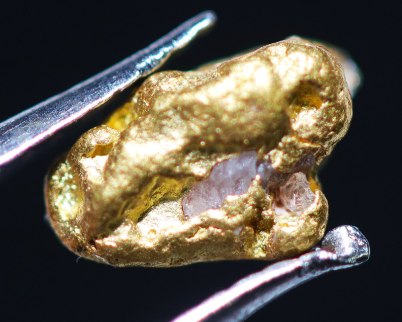 ONE NUGGET  to 0.57 Grams Australian Kalgoorlie Gold Nugget CH180