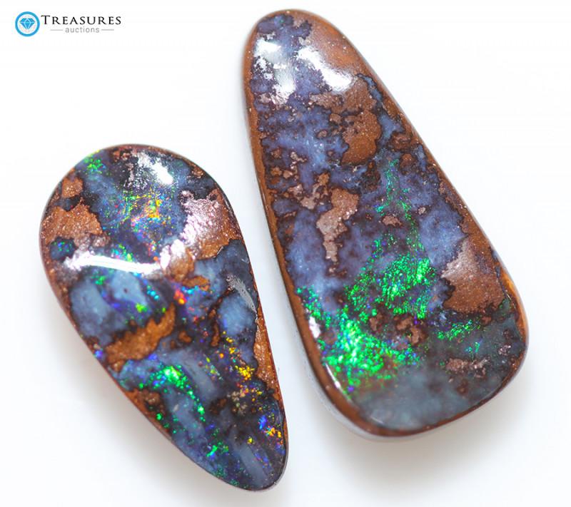 8.95Cts Queensland  Koroit Boulder Opal, Nice Pattern  CH221