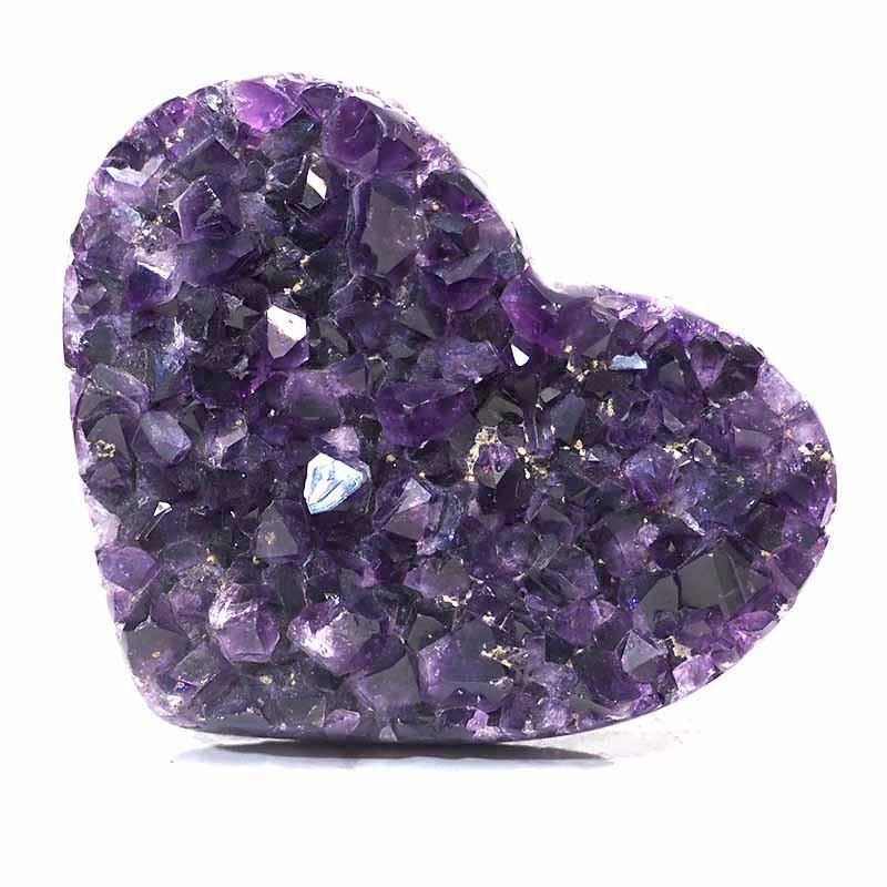 0.572kg Natural Amethyst Druze Heart DS264