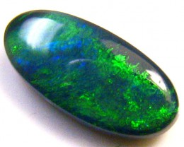 BEAUTIFUL GREEN FLASH BLACK OPAL 0.95 CTS SS1024