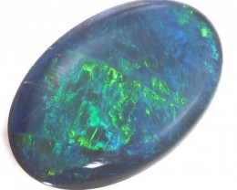 BEAUTIFUL BLUE FLASH BLACK OPAL  3.30 CTS SS 1550