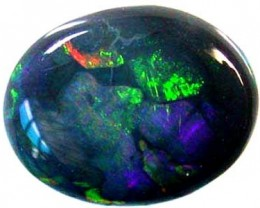BEAUTIFUL RED FIRE MULTI FLASH BLACK OPAL  A401