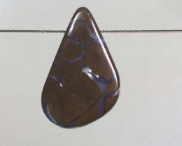 SOLID BOULDER OPAL BEAD R387