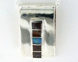 NEW OPAL STERLING SILVER INLAY PENDANT SS 615