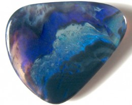 #7.40 CTS INTRESTING FORMATION BLACK OPAL LARGE SHADES BLUE GREEN